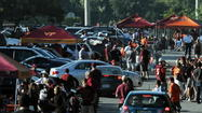 Absent strong walk-up sales, the crowd for Saturday's Virginia Tech-Cincinnati football game at FedEx Field won't approach the Hokies' two previous appearances there.