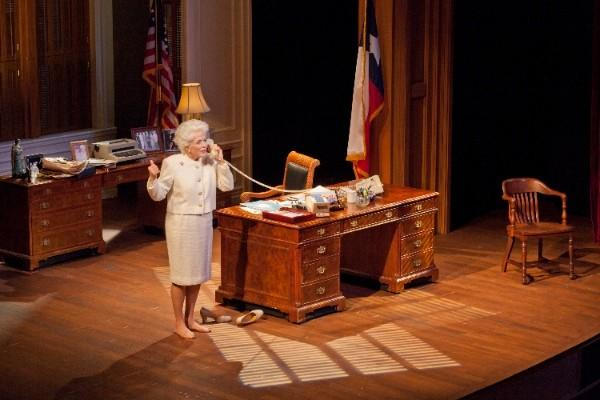 "Holland Taylor in a scene from her stage play ""Ann,"" based on the life of former Texas governor Ann Richards."