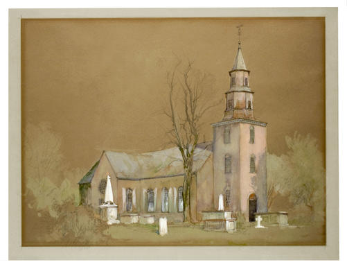 This circa 1893 view of Bruton Parish Church shows the historic Williamsburg church as it looked from the northeast  before its first restoration in 1907.