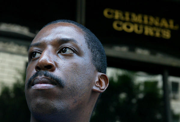 Harold Hall, photographed in 2001, was freed after 19 years in prison for murders he did not commit. A court ruled Monday that he will be able to sue the Los Angeles Police Department over allegedly coercing his confession.
