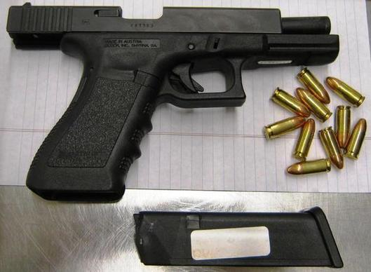 The Glock was uncovered at the Dallas Love Field Airport in February. In the first seven months of 2012, the TSA discovered 828 firearms in carry-on bags at airport checkpoints across the country -- at a rate of about four per day. Of those weapons,  210 had a round in the chamber.