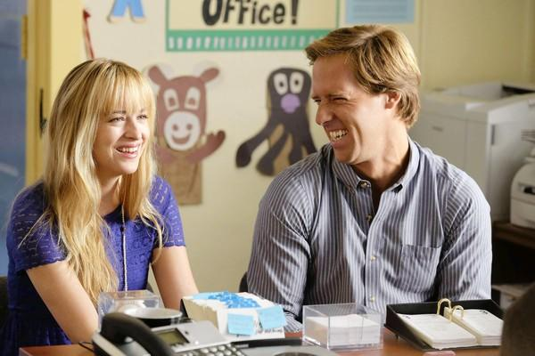 "Nat Faxon, as Ben, and Dakota Johnson, as Kate, in a scene from ""Ben and Kate."""