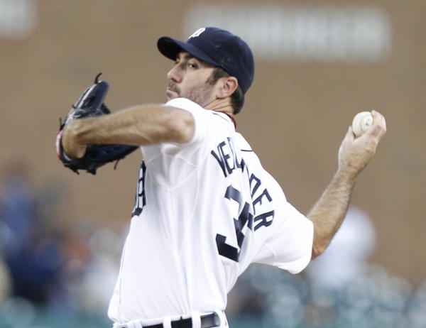Tigers ace Justin Verlander went eight innings for the victory as the Tigers beat the Royals.