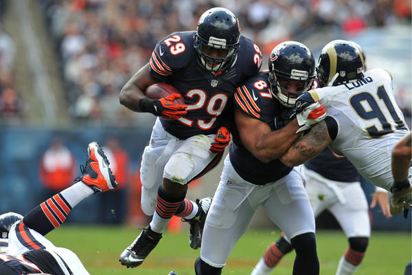 Running back Michael Bush gave the Bears an edge early in the game.