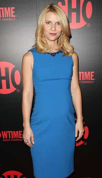 """Homeland"" actress Claire Danes. <br><style type=""text/css"">