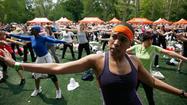Atmosphere at SELF Magazine's Workout In The Park at Rumsey Playfield, Central Park