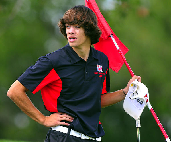 North Hagerstown's Aaron Staley shot a 77 Monday in the Maryland Class 3A/4A District 1 golf tournament at Black Rock Golf Course.