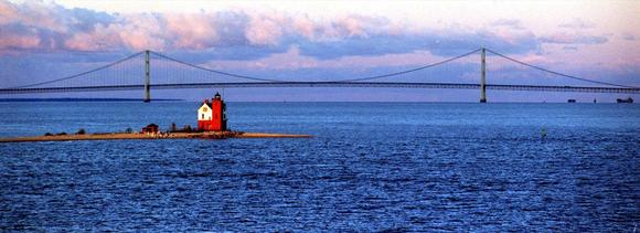 The Mackinac Bridge, Upper and Lower Peninsula of Michigan