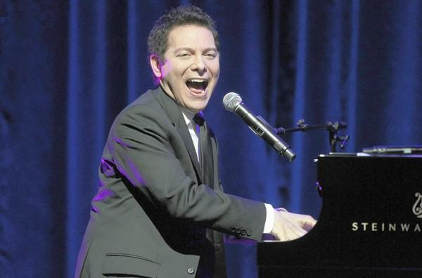 "Musician Michael Feinstein performs during the ""Michael Feinstein's American Songbook II"" panel earlier this year in Pasadena, Calif."