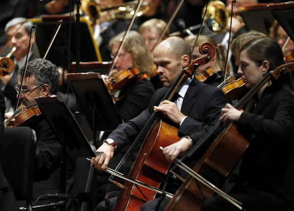 Riccardo Muti and the Chicago Symphony Orchestra perform at Pritzker Pavilion in Millennium Park on Friday.