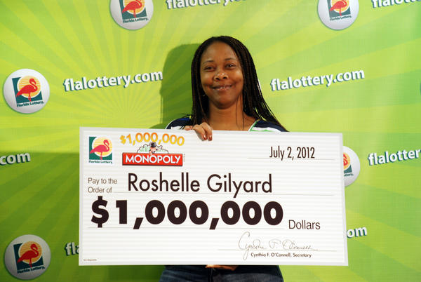 Roshelle Gilyard won $1 Million playing the Monopoly game from the Florida Lotto.