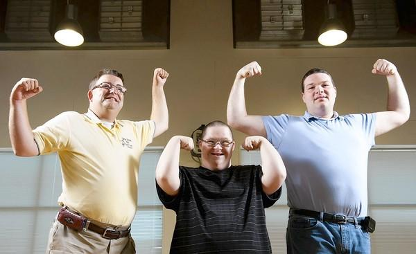 Special Olympians, from left, Ralph Gemmill, Woody Higgs and Chris Anderson will take part in the 2012 Westminster fallfest, which will be held Sept. 27-30. The festival raises money for a number of local organizations, and one of them is Special Olympics of Carroll County.