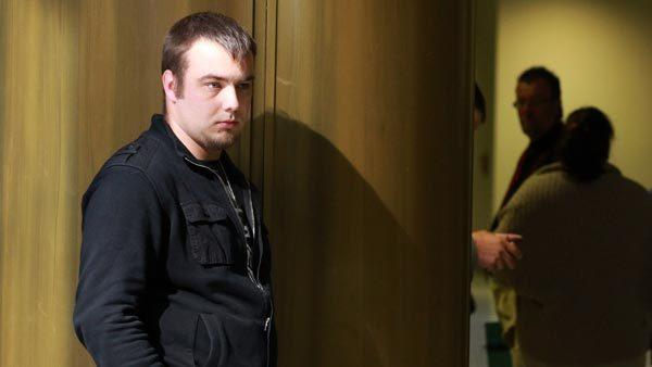 Lukasz Marszalek, driver of the vehicle that killed 17-year-old Julie Gorcznski, waits for the start of his sentencing at the Bridgeview Courthouse on Tuesday. Family members were not convinced with Marszalek's apology in court. Marszalek was sentenced to 6 months.