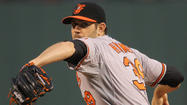 Orioles right-hander Jason Hammel takes step forward with first full-mound bullpen session