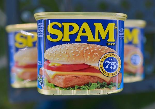 Cans of Spam meat made by the Hormel Foods Corporation are pictured in Silver Spring, Maryland, on July 5, 2012.