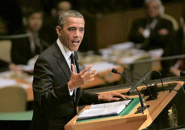 "In a speech at the U.N., President Obama said the strongest weapon against hateful speech ""is not repression; it is more speech."""