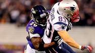 Ravens free safety Ed Reed zeroed in on his target, accelerating toward New England Patriots wide receiver Julian Edelman to deliver a crushing forearm blow to the chest to break up a potential touchdown pass.