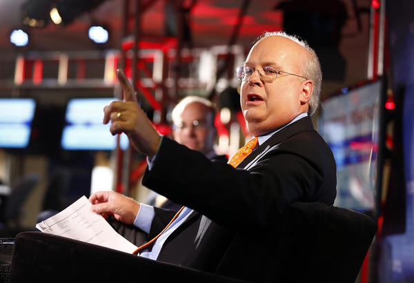 Republican strategist Karl Rove has changed the face of campaign financing. Above: Rove is seen at a sit-down interview with Chief White House Correspondent Mike Allen in front of a live audience in Tampa, Fla. on Aug. 27.