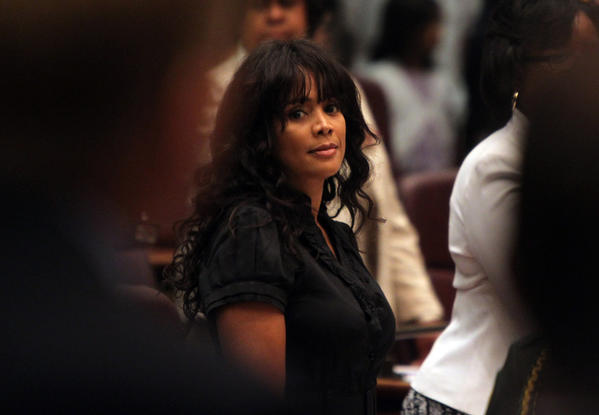 Ald. Sandi Jackson, 7th, attends a Chicago City Council meeting.