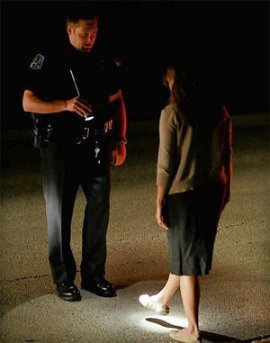 Officer James Waites conducts a field sobriety test in Mundelein, Ill., in 2009. The Supreme Court has agreed to review a Missouri case in which a suspected drunk driver was forced to undergo a blood test.