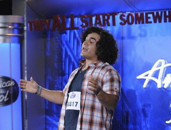 "Oak Forest resident Chris Medina auditions in front of the judges on Fox's ""American Idol."""