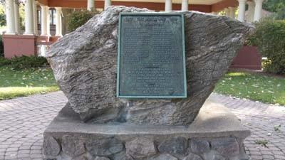 Petoskey's World War I memorial is seen Tuesday in Mineral Well Park.