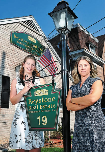 Heather E. Miller, left, and Tracy A. White own Keystone Real Estate Settlement Services Inc. at 19 Fifth Ave. in Chambersburg, Pa.
