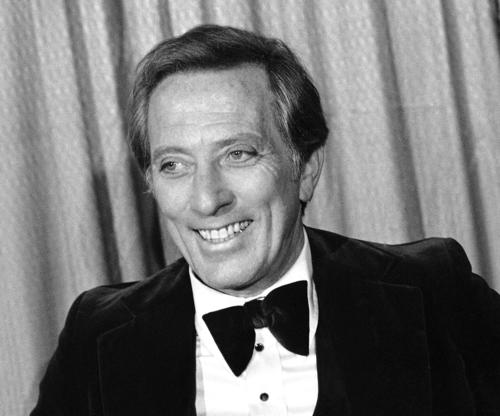 Andy Williams at the 1978 Grammy Awards in Los Angeles. Williams hosted the ceremony seven times.