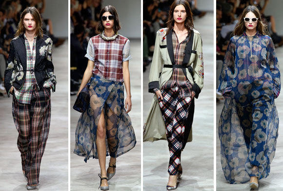 Looks from the Dries Van Noten spring-summer 2013 collection shown at Paris Fashion Week.