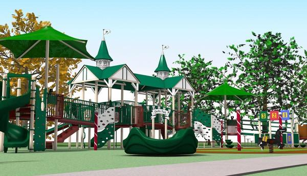An artist rendering of a sensory playground planned for Wheaton.
