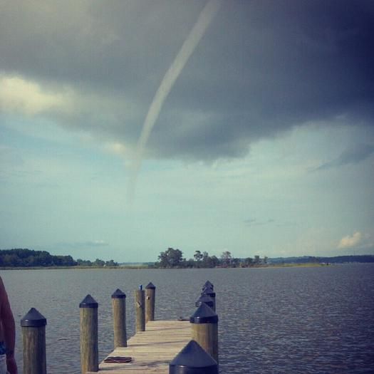 Patuxent River waterspout