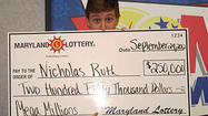 Md. lottery winner plans to give back