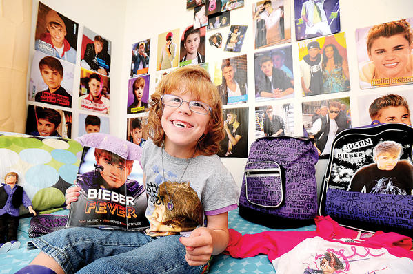Kaden Anders, 7, of Inwood, W.Va., is a huge Justin Bieber fan and has launched an Internet campaign in order to get a ticket to his sold-old concert in November in Washington, D.C.