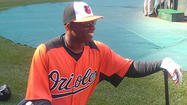 Deion Sanders takes batting practice with Orioles