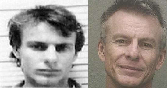 Martin James Malone is shown in mug shots taken when he was arrested in 1989 and 2012.