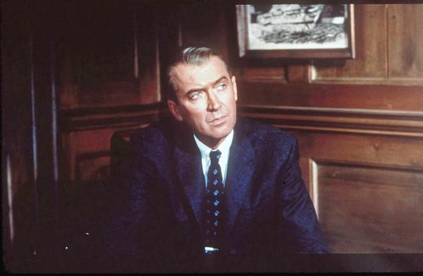 "James Stewart stars in ""Vertigo."""