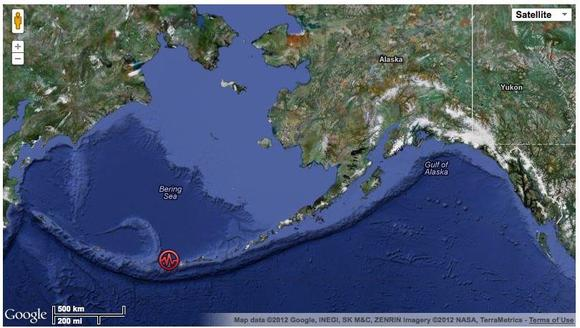 Strong Earthquake Near Adak