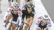 Matt Baranoksi of Perkasie, Colleen Hayduk of Kutztown, Mandy Marquardt of Topton and Mary Costelloe of Emmaus all cleaned up at the 2012 USA Cycling Collegiate Track National Championships in Frisco, Texas last week.