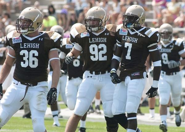 Matt Laub (92), a Lehigh freshmen defensive back and Parkland grad.