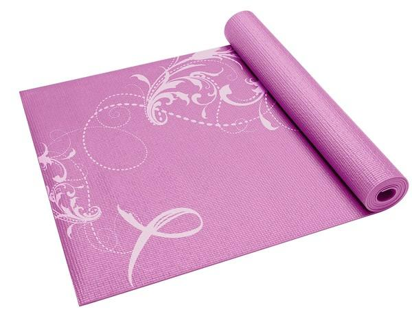"Eco-friendly lifestyle brand Gaiam is giving $1 from the sale of each pink-ribbon yoga mat to the Breast Cancer Research Foundation. The lightweight mat, which has a standard 3-millimeter thickness, comes with a Yoga workout download.<br /><br />Details: $21.98 at <a href=""http://www.gaiam.com/home.do?extcmp=shopgaiam"">shopgaiam.com</a>."