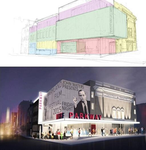 The Baltimore Development Corp. is considering two proposals for the renovation of the Parkway Theatre.