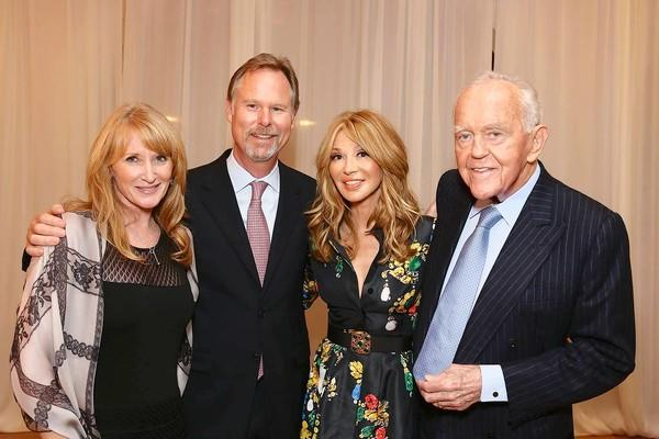 MILESTONE: Jennifer and Anton Segerstrom with Elizabeth and Henry Segerstrom at 45th anniversary dinner for South Coast Plaza.