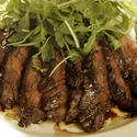 The beef tagliata with arugula salad at Osteria Mozza, one of L.A.'s hot restaurants.