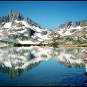 "<b><a href=""http://www.fs.usda.gov/inyo/"" target=""_blank"">Thousand Island Lake,</a> </b> <i>Ansel Adams Wilderness, Inyo National Forest</i>"