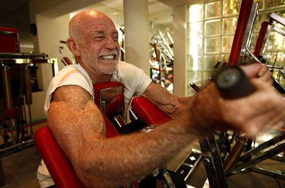 "<b>HOME GYM:</b> ""I think I invented circuit training because I had to -- I didn't have the time to rest,"" Don Wildman says."