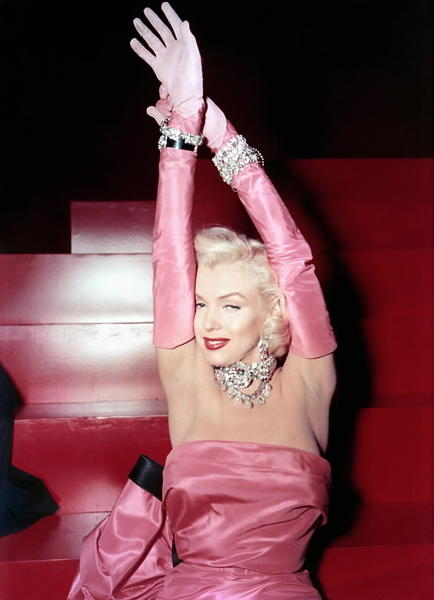"Marilyn Monroe in ""Gentlemen Prefer Blondes."""