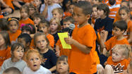 Linthicum school celebrates winning Orioles contest