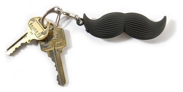 """Need a laugh? This is your key ring.<br><br>  Pro: Weirdly entertaining<br><br>  Con: Emphasis on weird<br>  Details: Kikkerland Talking Mustache (""""Well, hello there""""), $5, Old Navy, oldnavy.com"""