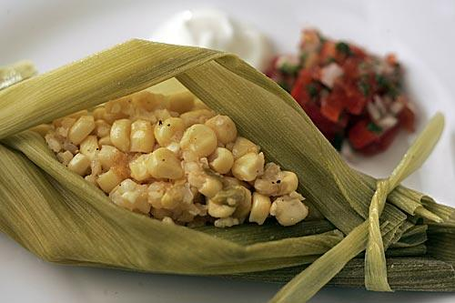 Green corn tamale