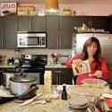 Hungry Girl -- that would be Lisa Lillien -- at work in her Woodland Hills Test Kitchen